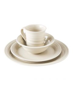 Belmont Dinnerware — Crackle Ivory
