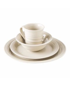 Belmont Crackle Ivory Cereal Bowl Place Setting