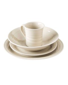 Belmont Pasta Bowl Place Setting — Crackle Ivory