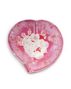 Crystalline Twist Heart Bowl, Large - Rose