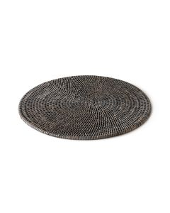 Grey Rattan Round Placemat