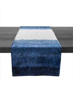 Blue Ombre Linen Runner, 67″