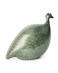 Guinea Hen, Large - Green Spotted Cobalt