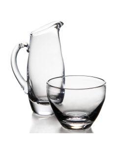Small Addison Glass Pitcher & Sugar Bowl Set