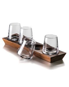 Ludlow Whiskey Set with Wood Base