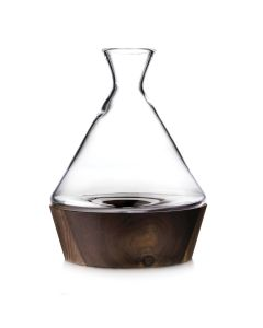 LUDLOW WINE DECANTER WITH WOOD BASE