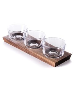 Ludlow Nut Bowl Set with Wood Base