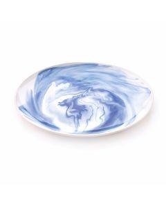Marble Platter, Large — Indigo
