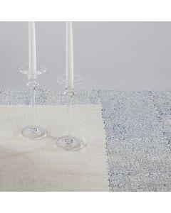 Blue & White Linen Juliette Tablecloth