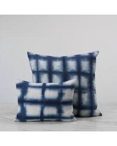 Cobalt Blue Linen Shibori Pillows