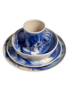 Marble Pasta Bowl Place Setting — Indigo