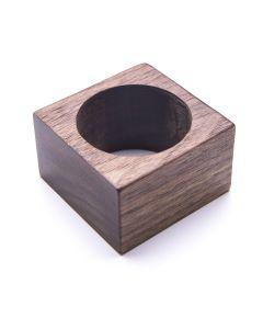 Square Walnut Napkin Ring