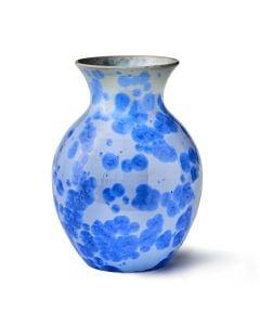 Curio Crystalline Vase, Large — Cobalt