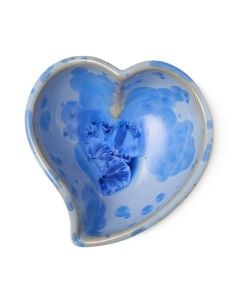 Twist Heart Crystalline Bowl, Small — Cobalt