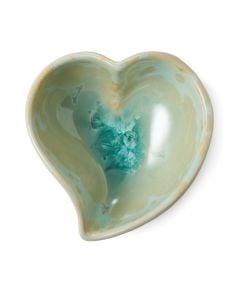 Twist Heart Crystalline Bowl, Small — Jade