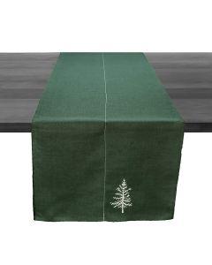 """White Pine Green Linen Runner, 95"""""""