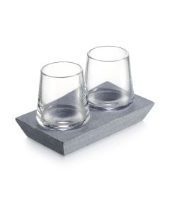 Alpine Whiskey Pair with Soapstone Base