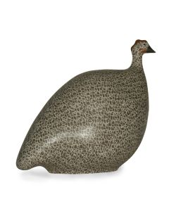 Guinea Hen, Large — Grey Spotted White Matte