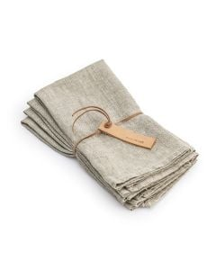 Natural Hemmed Linen Napkins (Set of 4)