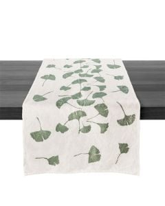 Ginkgo Leaf Linen Runner — 67ʺ