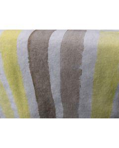 Linen Runner, 67″ — Yellow + Grey Stripe