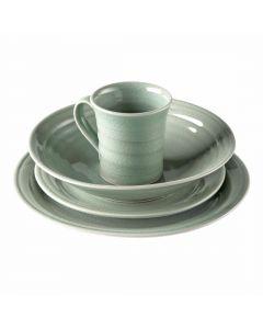 Belmont Crackle Celadon Pasta Bowl Place Setting