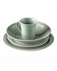 Belmont Pasta Bowl Place Setting — Crackle Celadon
