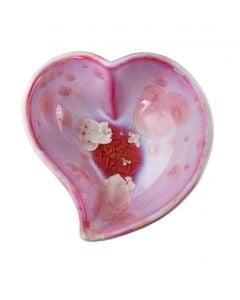 Crystalline Twist Heart Bowl, Small — Rose