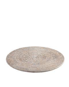 White Wash Rattan Round Placemat