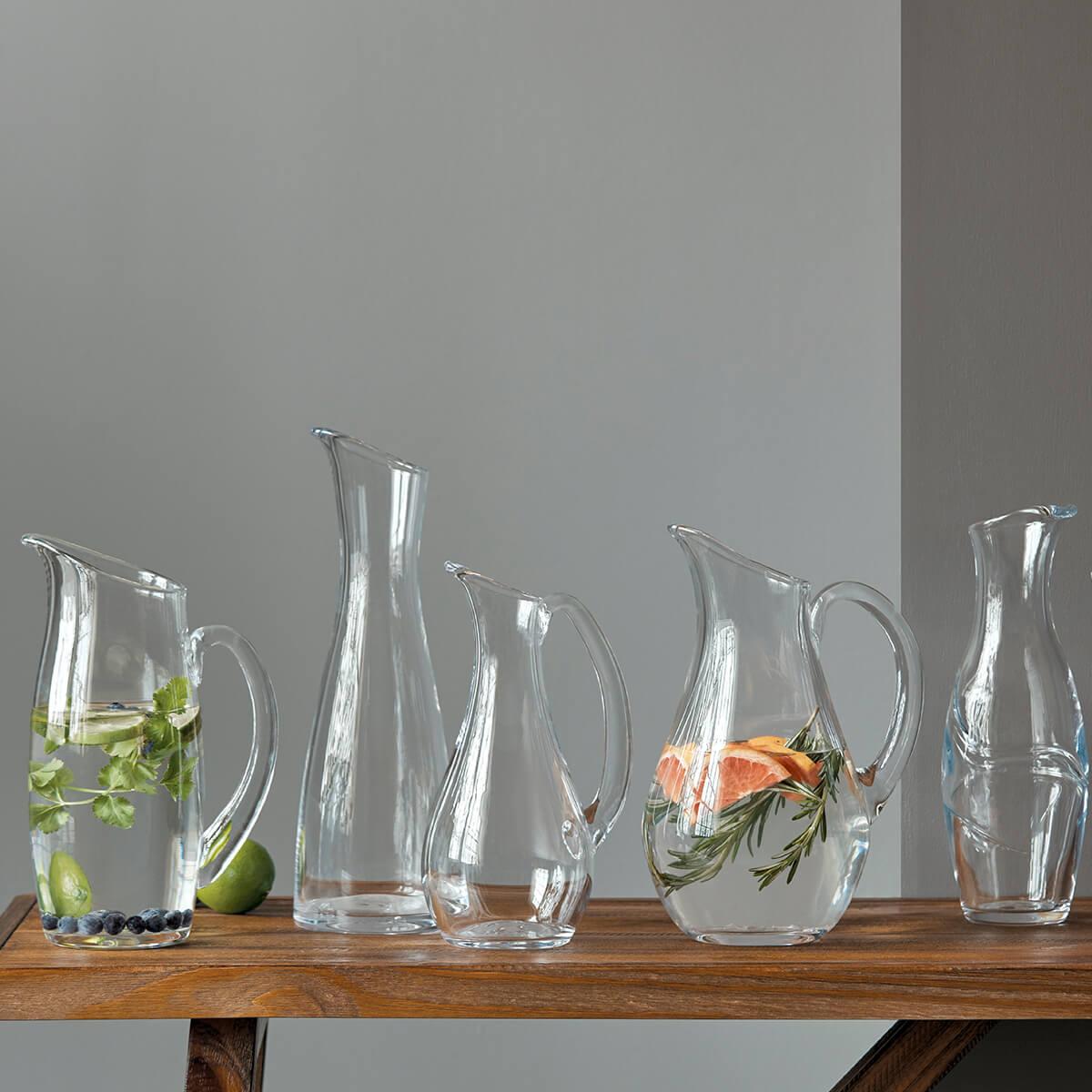 Assortment of pitchers