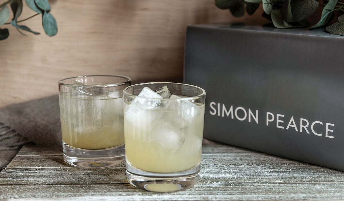 ascutney double old fashioned in front of gift box
