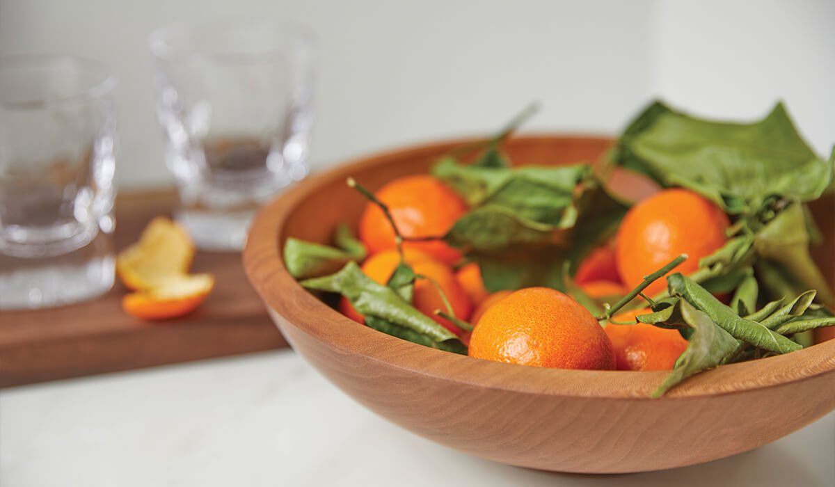 Andrew Pearce Wooden Bowl with Salad inside