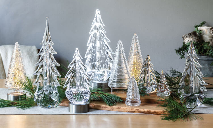 2019 Holiday Shop - Decorate - Glass Trees