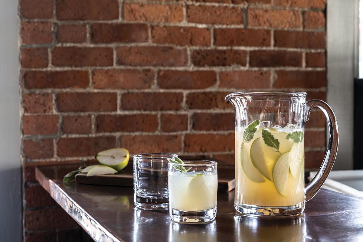 Benson Martini with Lavender Lemon Drop drink