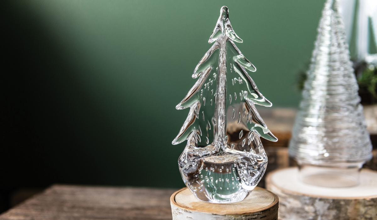 Bubble Evergreen Glass Tree
