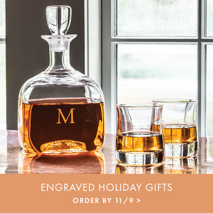 ENGRAVED HOLIDAY GIFTS — ORDER BY 11/9 >
