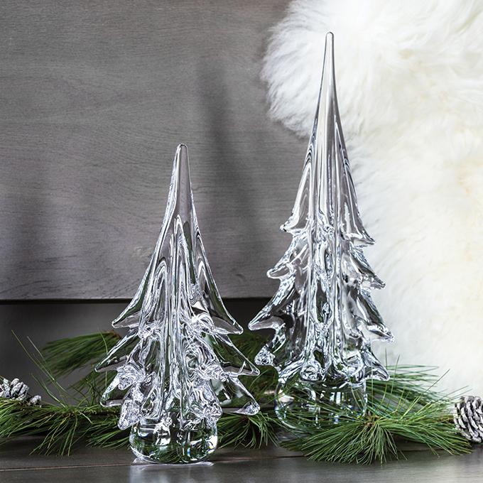 Spruce Evergreen Glass Tree