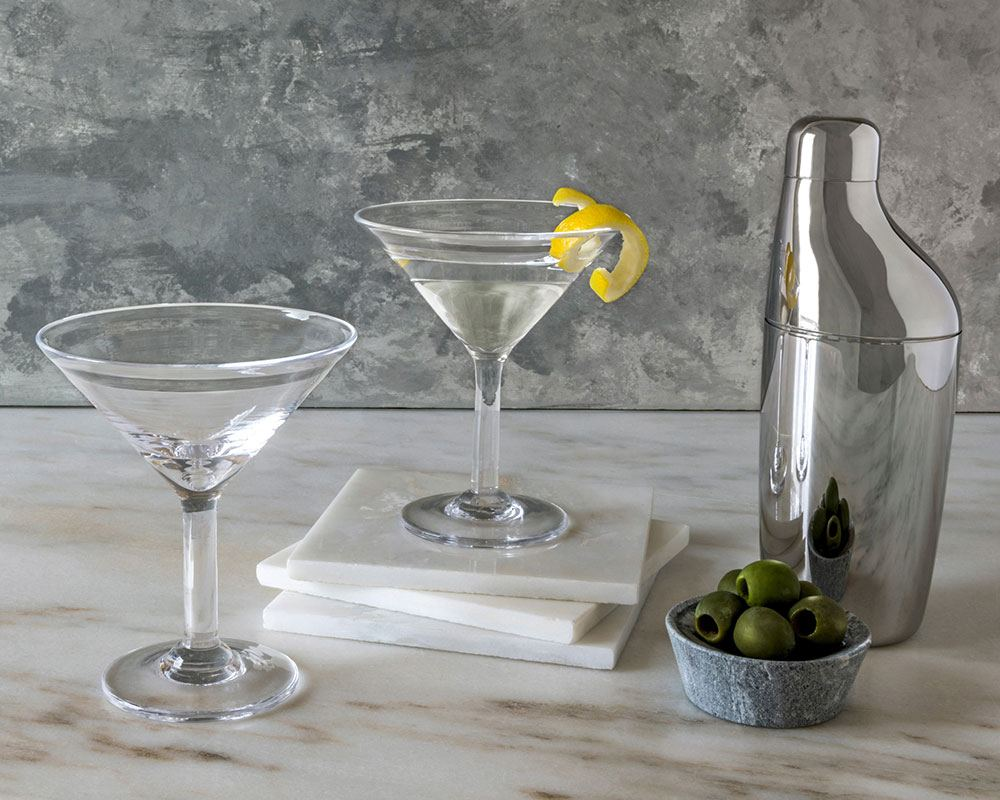 Bar Setting Featuring Georg Jensen Stainless Steel Cocktail Shaker