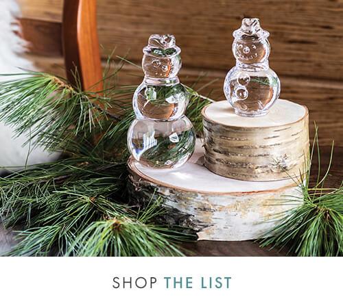 SHOP THE LIST - Glass Snowmen