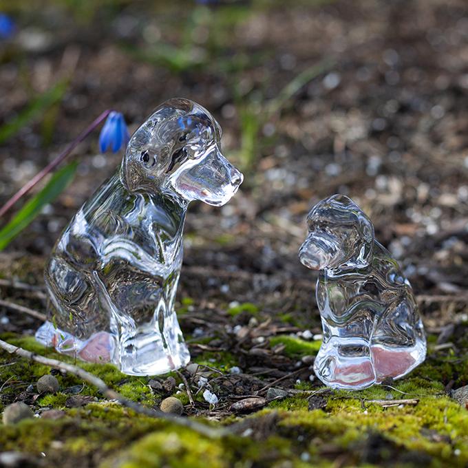 Simon Pearce  Glass Dogs
