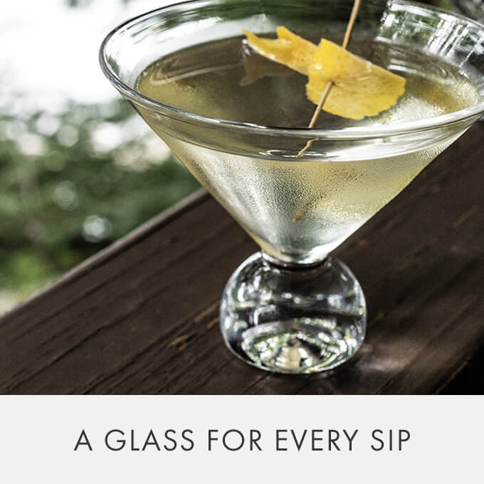 A GLASS FOR EVERY SIP - Benson Martini Glass