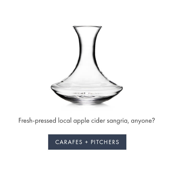Fresh-pressed local apple cider sangria, anyone? > CARAFES + PITCHERS