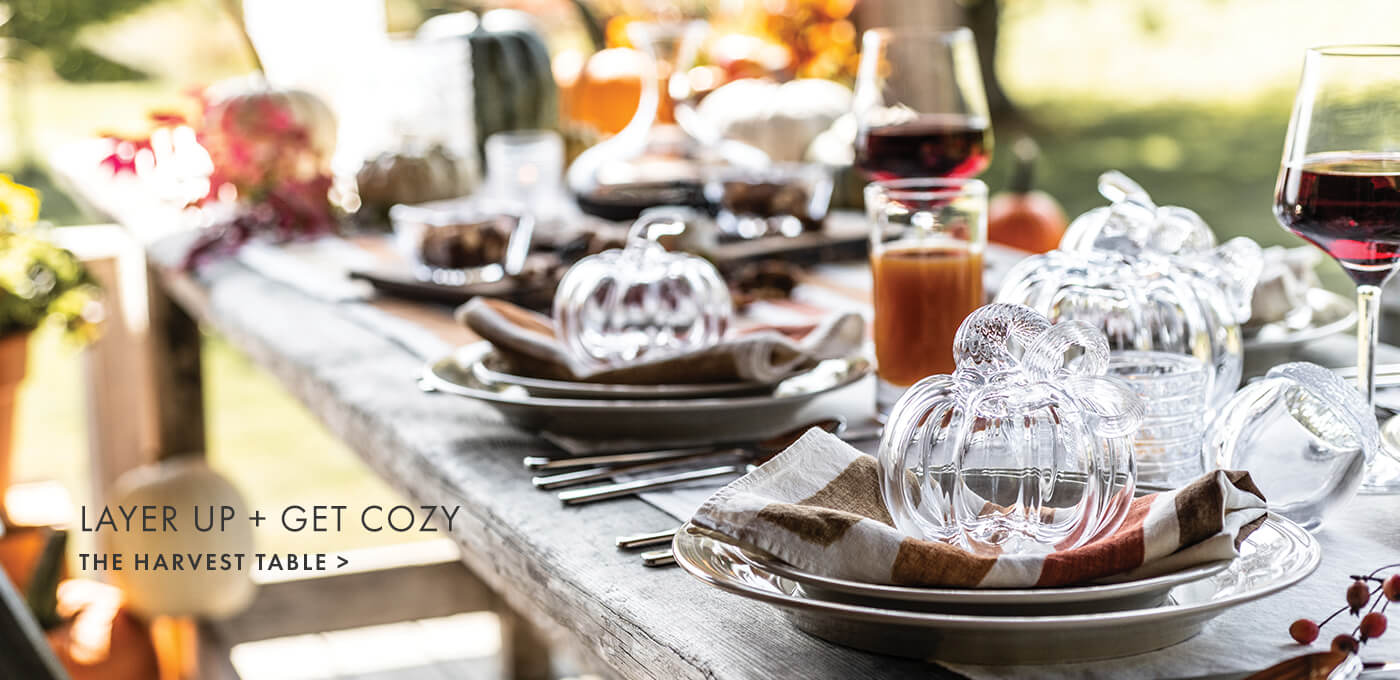 LAYER UP + GET COZY > THE HARVEST TABLE
