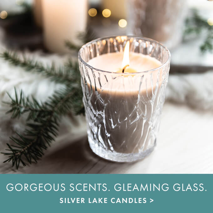 GORGEOUS SCENTS. GLEAMING GLASS. — SILVER LAKE CANDLES >