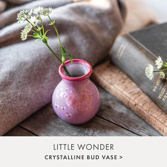 LITTLE WONDER — CRYSTALLINE BUD VASE >