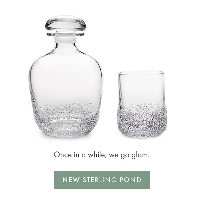 Once in a while, we go glam. — NEW STERLING POND>