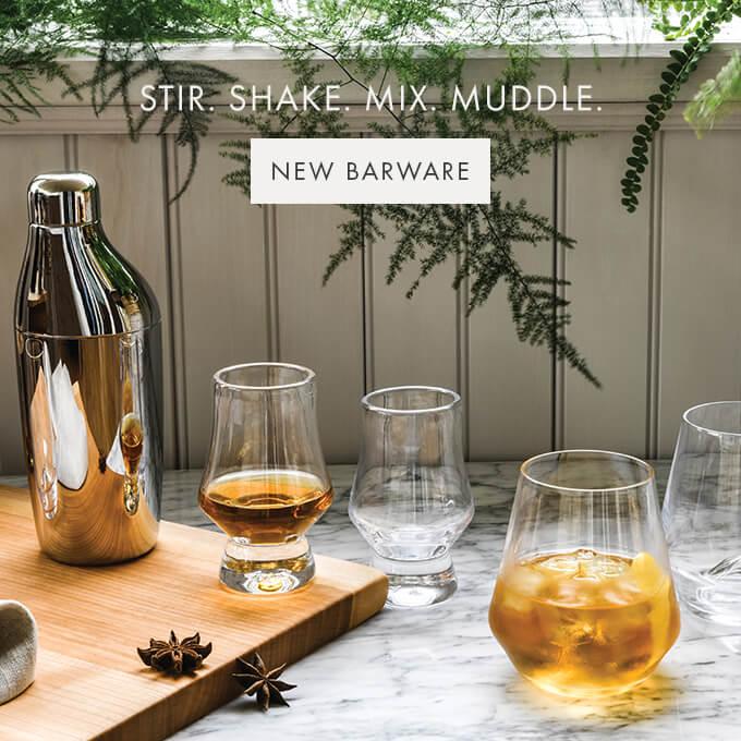STIR. SHAKE. MIX. MUDDLE — NEW BARWARE >