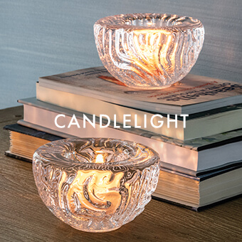 Coral Tealight — SHOP CANDLELIGHT >