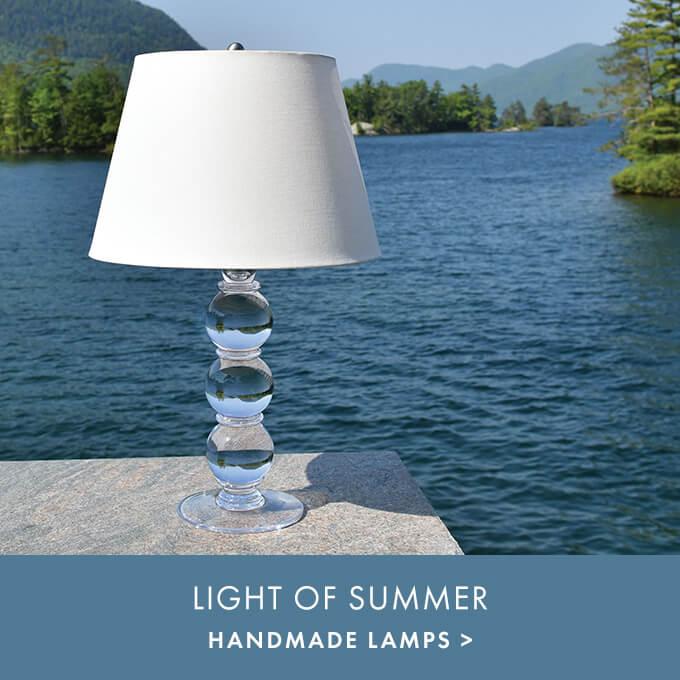 LIGHT OF SUMMER — HANDMADE LAMPS >