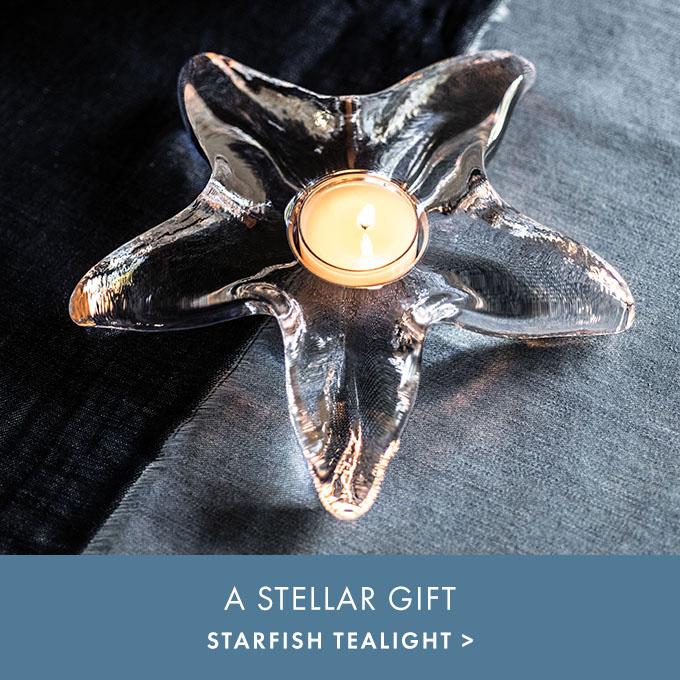 A STELLAR GIFT— STARFISH TEALIGHT >